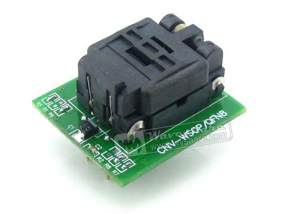 Wavesahre QFN8 à DIP8 (A) Plastronics IC adaptateur de programmation prise de Test 5.1x6.1mm 1.27 pas pour QFN8 MLF8 MLP8 paquet