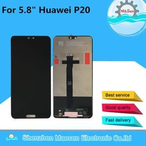 """Image 1 - 5.8 """"الأصلي M & سين لهواوي P20 LCD شاشة عرض + لوحة اللمس شاشة محول الأرقام لهواوي P20 EML AL00 EML L29 L22 L09 AL00"""