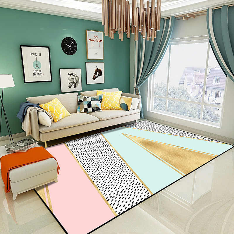 200x300cm Nordic Pink Rugs Thicken Soft Carpet Kids Room Play Mat Modern  Bedroom Bedside Area Rugs Large Carpets for Living Room