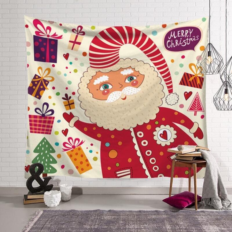 ①  Рождество с Рождеством Висит Гобелен Настенная Печать Гобелены Гостиная Декоративные принадлежностиr ✔