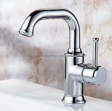 Chrome Bathoom Kitchen Faucet Swivel Spout Single Handles Lavatory Sink Mixer Taps Deck Mounted Hot and Cold Tap Bnf330