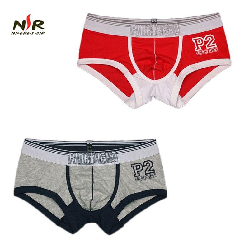 Pink Heroes 2 Pcs/lot Men Underwear Boxers Fashion Cotton Print Letters Underwear Men Boxer Pants Brand Sexy Men Shorts Pants