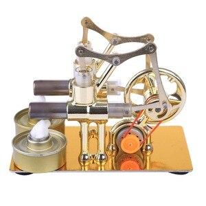 Image 5 - ガンマスターリングエンジン金属二重円筒電球外部燃焼熱パワーエンジンモデル物理学実験のおもちゃ