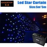 Korting Prijs 5 M x 5 M LED Ster Gordijn, RGBW Gekleurde led podium Gordijnen LED Stage Achtergrond, LED Star Doek voor Bruiloft Decoratie
