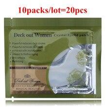 20pcs Deck Out Wanita Crystal Eyelid Patch Anti-Wrinkle Crystal Collagen Mask Mata Buang Black Eye Post penghantaran percuma