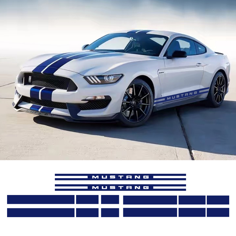 1 Set Side Door Rocker Panel Stripes Front Rear Hood Roof Trunk Graphic Decal Set Stickers