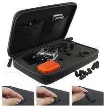 Lagerung Fall Reisetasche mit Anpassbare Innen Schaum für Go Pro GoPro Hero 8 7 6 4 SONY SJCAM AKASO yi 4K EKEN Action Kamera