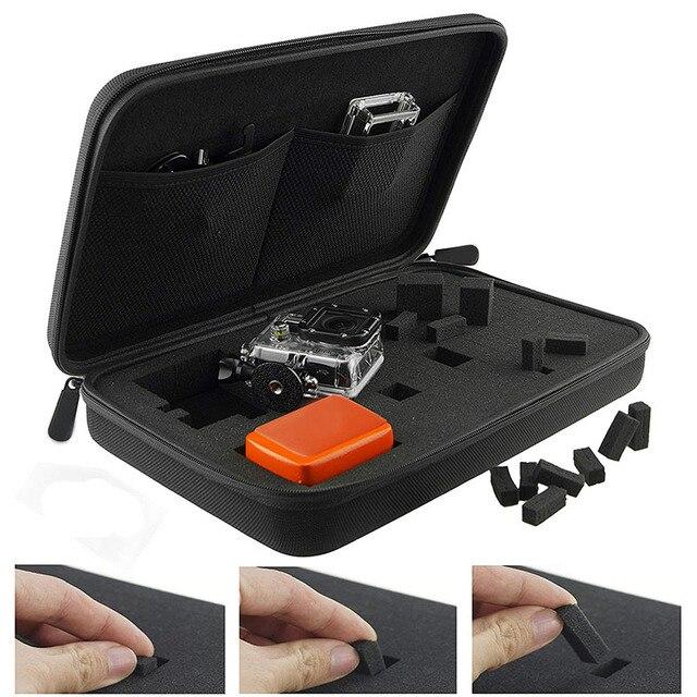 Mallette de rangement sac de voyage avec mousse intérieure personnalisable pour Go Pro GoPro Hero 8 7 6 4 SONY SJCAM AKASO Yi 4K EKEN caméra daction