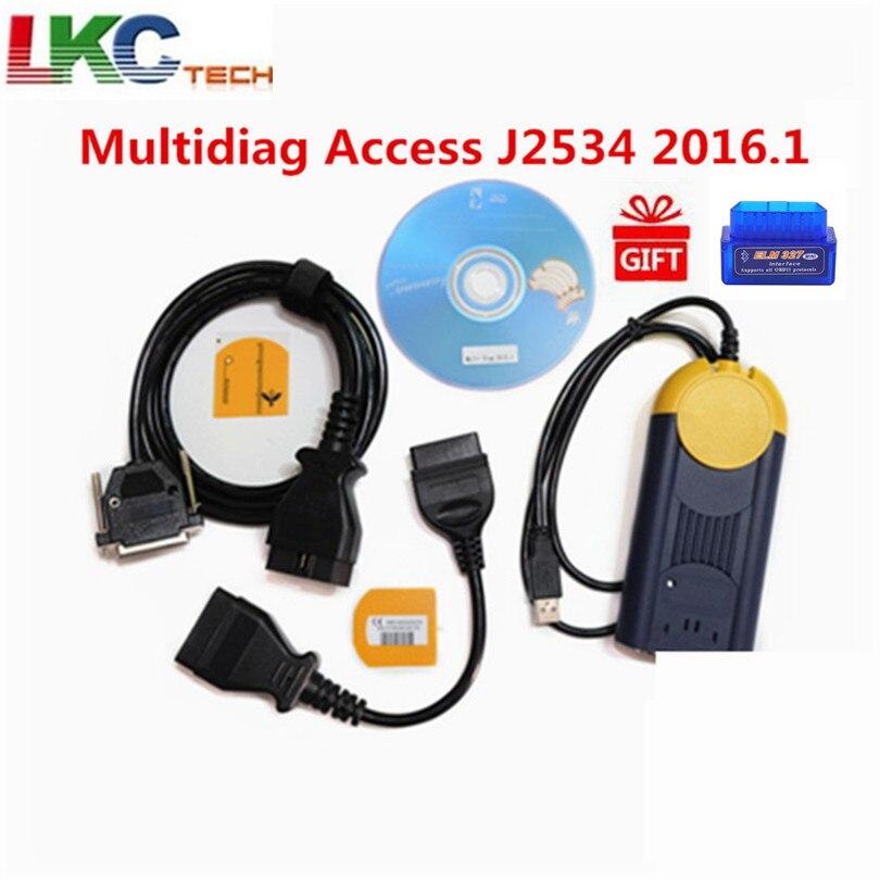 Multi-Recentes 2016.1 multi-idioma Auto actia Multi diag j2534-v2015.1 interface multidiag diag obd2 Auto Diagnóstico ferramenta