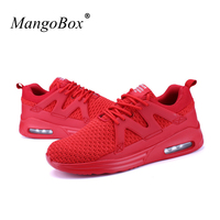 KERZER 2017 New Arrival Men Sneakers Red White Sport Shoes Men Mesh Sports Footwear Air Cushion Athletic Shoe Cheap Trainers