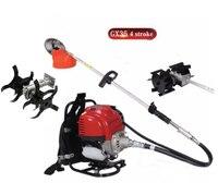 Gx35 рюкзак 4 тактный 3 in1 кусторез румпель травы машина для обрезания кустарника культиватор