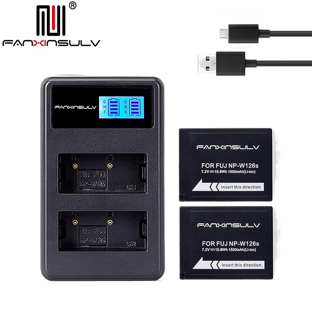 2x NP-W126S NP W126S Batterie + Chargeur USB pour Fujifilm Fuji XT3 XA5 XT20 XT2 XH1 XT10 XE3 X100F xpro2 NAVIRE AVEC NUMÉRO DE SUIVI