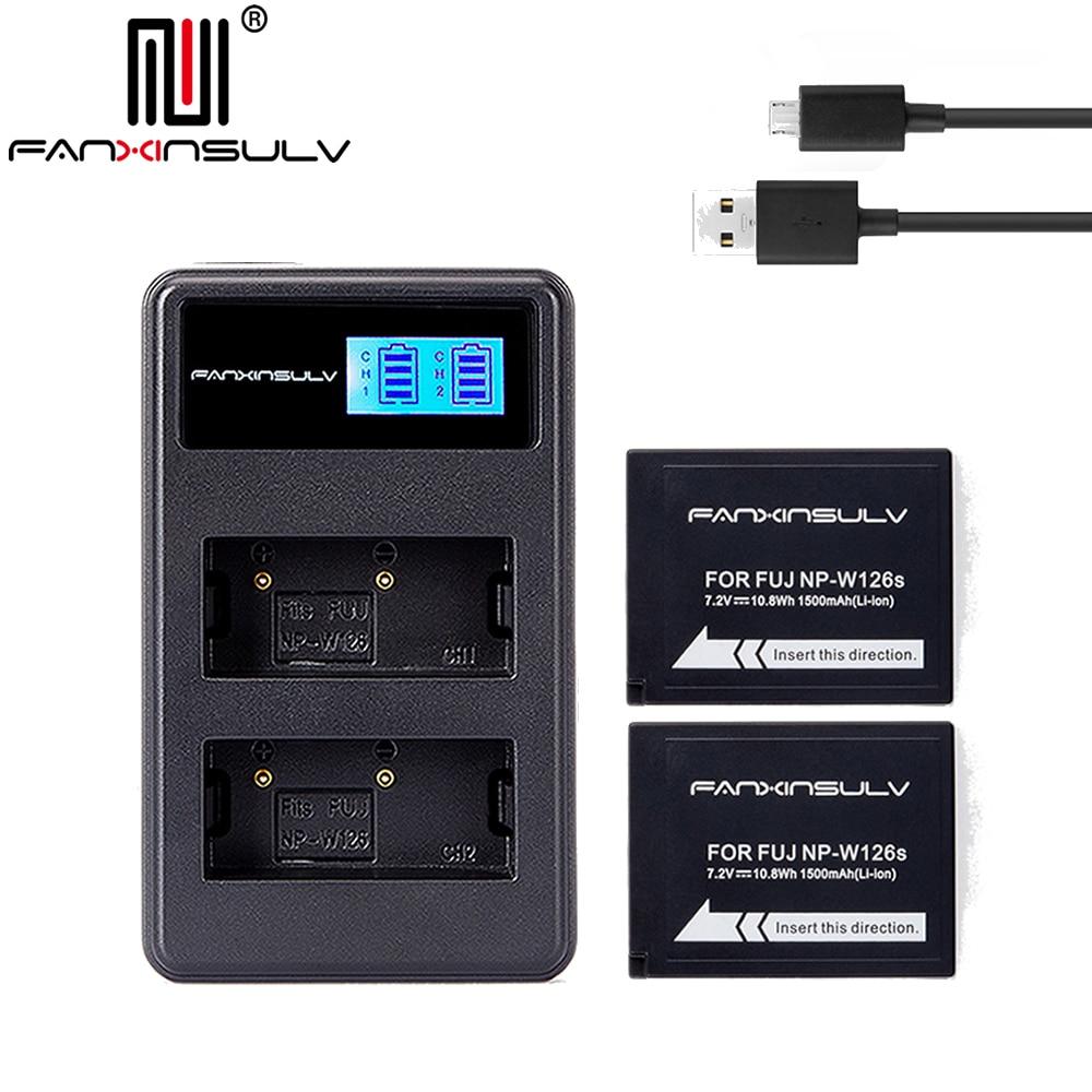 2x NP-W126S NP W126S Batterie + chargeur usb pour Fujifilm Fuji XT3 XA5 XT20 XT2 XH1 XT10 XE3 X100F xpro2 BATEAU AVEC numéro de suivi