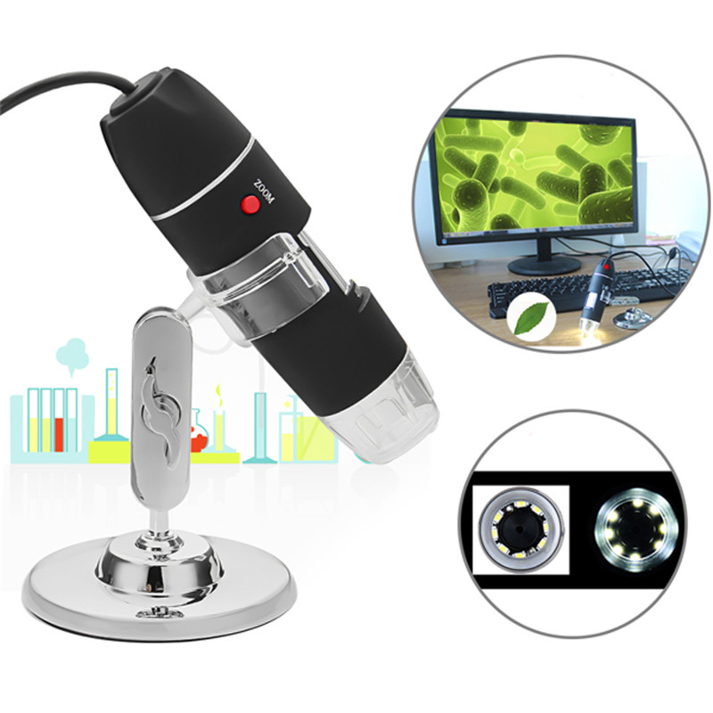 FREE SHIPPING USB Digital Microscope Mega Pixels 1000X 1600X 8 LED Electronic Microscopio Endoscope Microscope Zoom Camera Magnifier 1000X