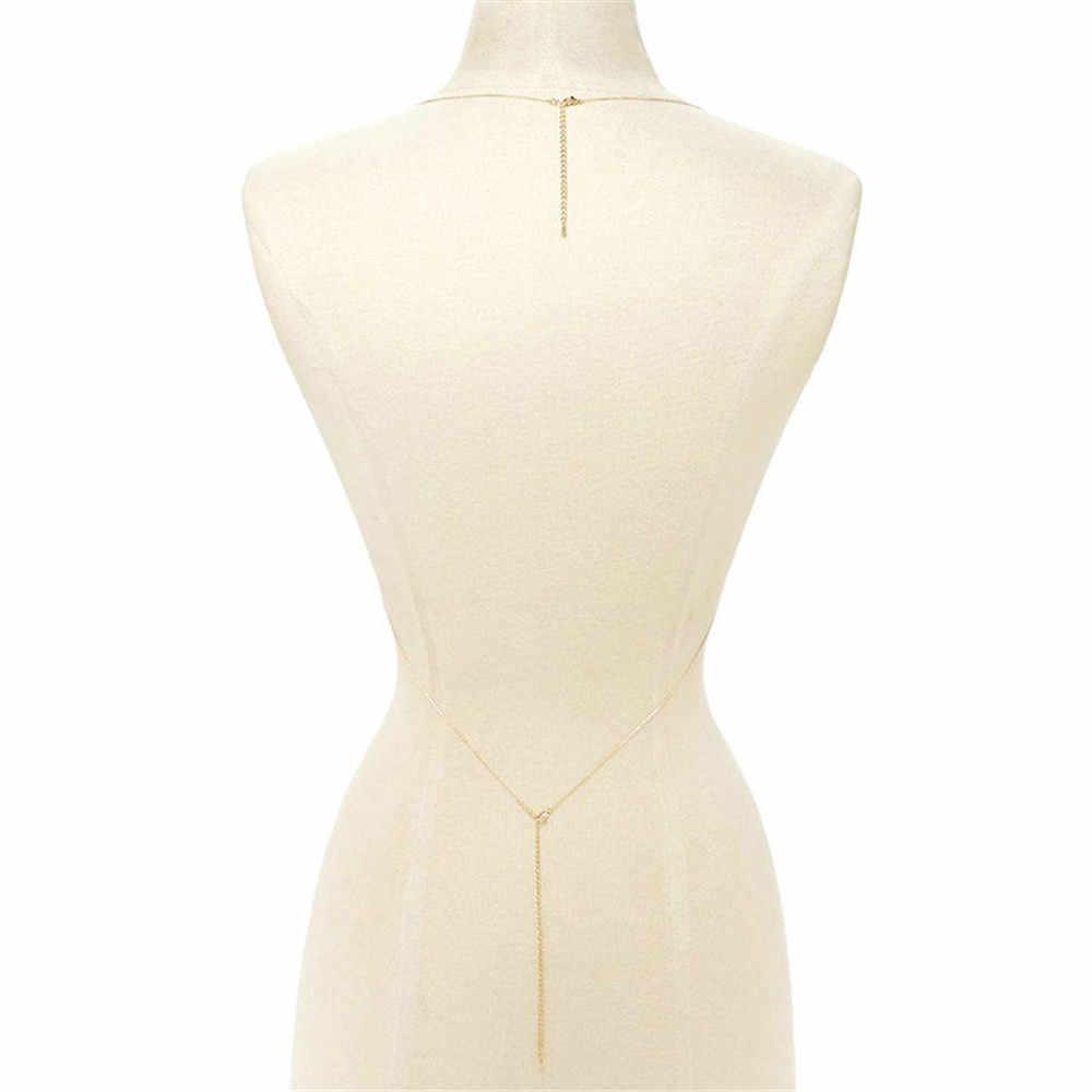 Ücretsiz kargo seksi boncuk püskül vücut zinciri kafes çapraz sutyen zinciri zarif Bikini düğün gelin basit göbek takısı kadınlar için