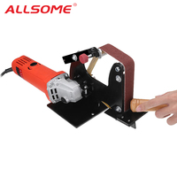 ALLSOME Angle Grinder Belt Sander Attachment Sanding Belt Adapter for 115 125 Angle Grinder HT2455