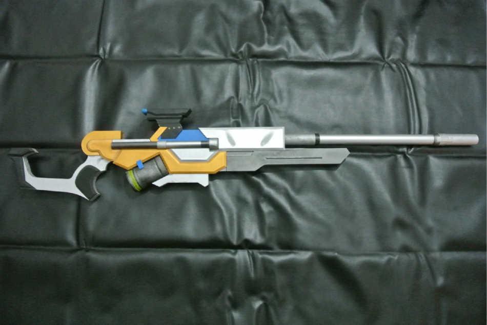 e1418b1ae4f Overwatch Ana Skin Captain Amari Weapon Biotic Rifle Cosplay Replica Gun  Prop
