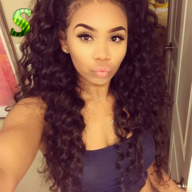 Deep Curly Lace Front Human Hair Wigs Brazilian Virgin Hair Lace Front Wigs Glueless Full Lace Human hair Wigs With Baby Hair