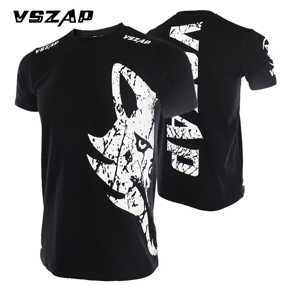 VSZAP Brand MMA Fight Fedor Emelianenko Clinch Gear Fitness Muay Thai Black Summer Black And Red Boxing Fido