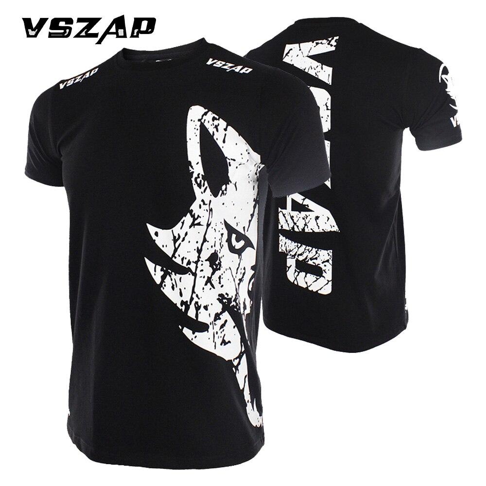 Prix pour VSZAP Marque MMA Lutte Fedor Emelianenko Clinch Vitesse Fitness Muay Thai noir d'été noir et rouge de boxe Fido