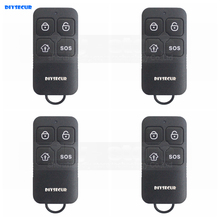 DIYSECUR 4pcs Wireless 433Mhz Keyfobs Remote Control for Our Related Home Alarm Home Security System Black