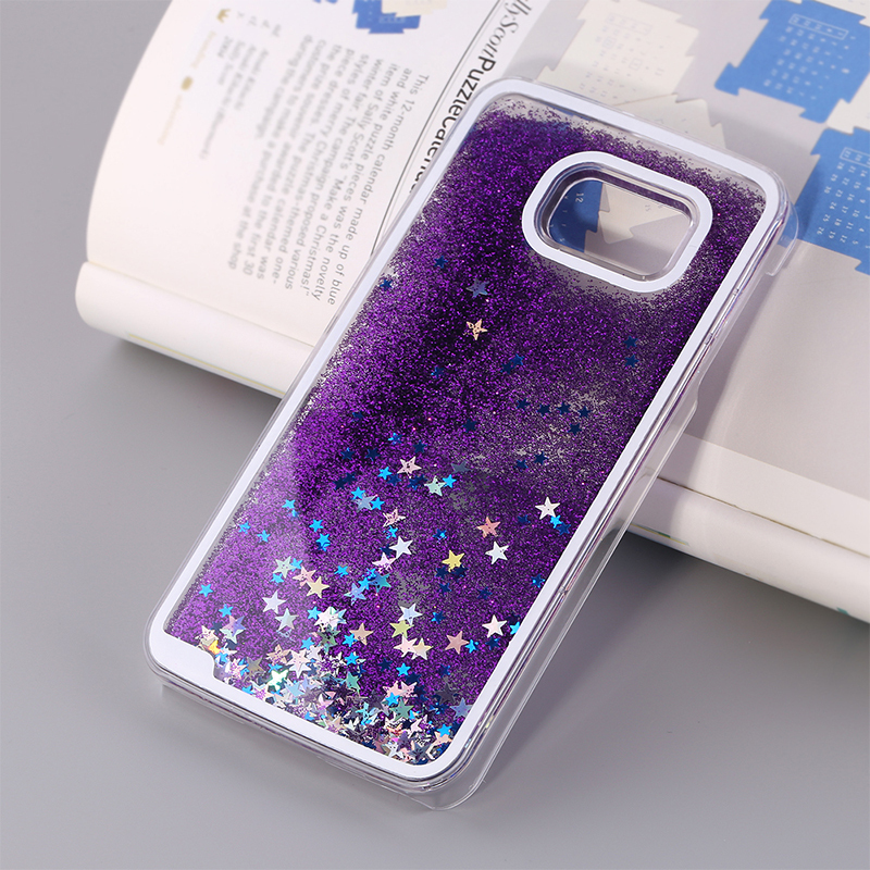 finest selection 66af0 6a5b2 US $6.98  S6 G9200 Drift Sand glitter waterfall case for Samsung galaxy S5  i9600 flow sand liquid cell phone plastic hard back cover shell on ...