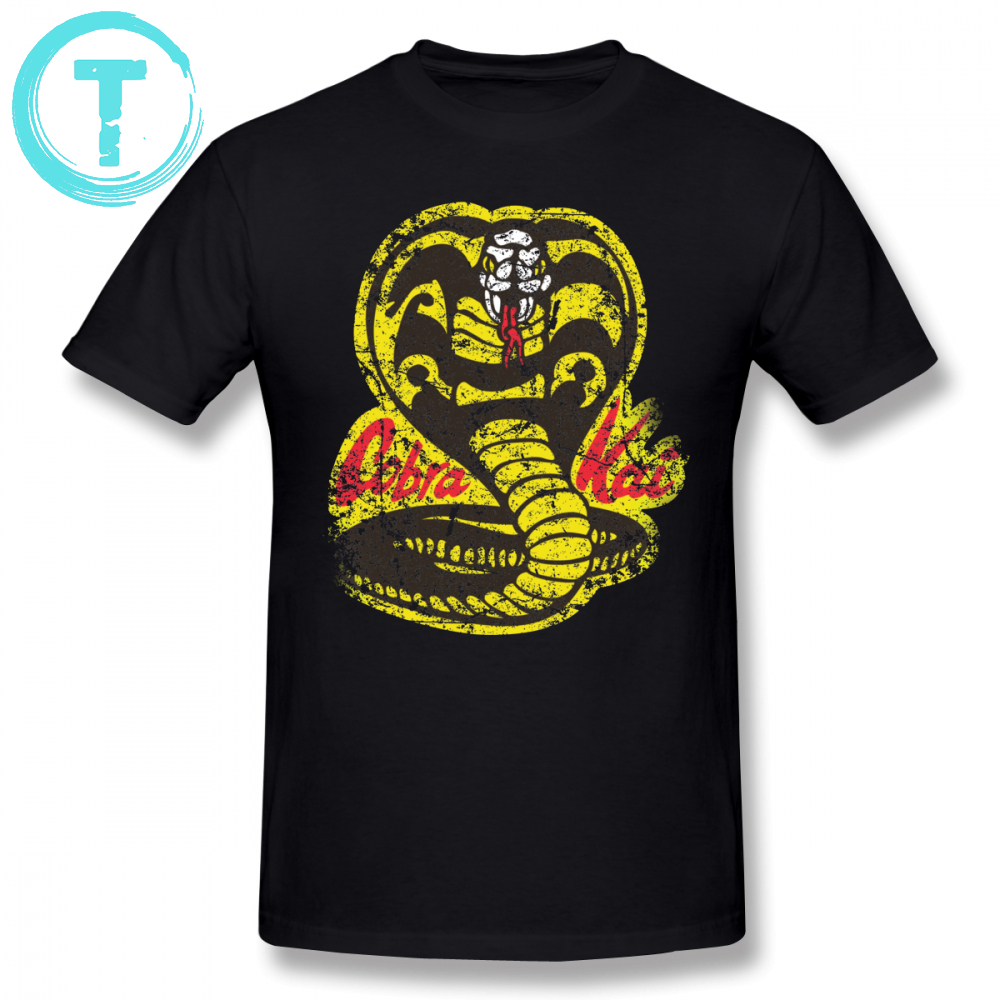Cobra Kai T Shirt Cobra Kai T-Shirt Short-Sleeve Oversized Tee Shirt Printed Cotton Classic Men Fun Tshirt