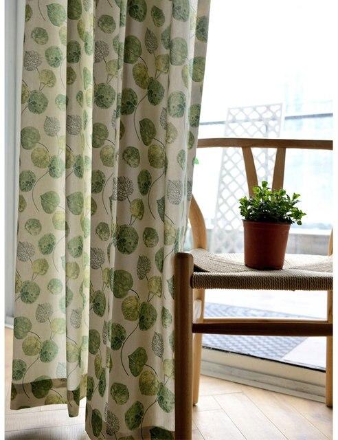 Grün Küche Vorhang Muster Blätter Pastoralen Stil Tür Teiler