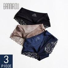 3 Pcs Seamless Panties For Woman Underwear Sexy Lace Briefs Solid Female PantyHot Sale Women M-XXL BANNIROU