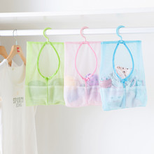 Bathroom sucker polyester Storage Bag Baby Kids Bath Time Tidy Toy Suction Cup Mesh Organiser Net Toys