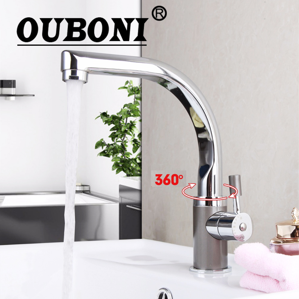 ouboni deck montiert badezimmer wasserhahn chrom messing becken
