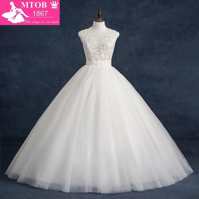 Ballkleid Brautkleid 2016 Vintage Hochzeit Kleid Puffy Spitze ...