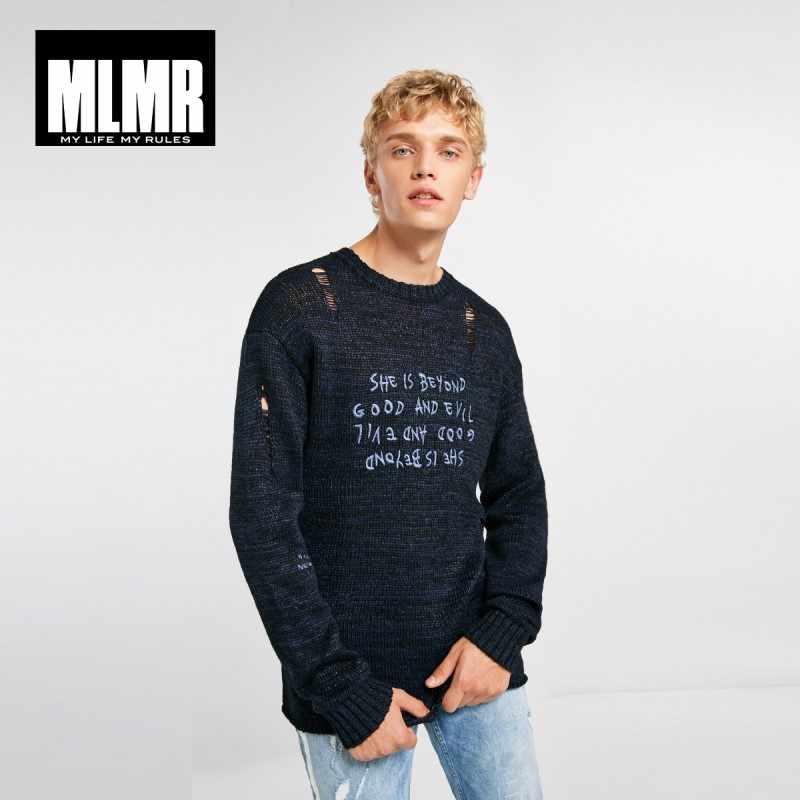 JackJones MLMR męski wełniany sweter wzór zgrywanie dzianiny pulower bawełniany odzież męska 218324551