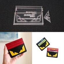1 комплект DIY акриловый кожаный шаблон домашний ручной работы пошив кожаных изделий узор инструменты аксессуар держатель для карт 105x85x5 мм