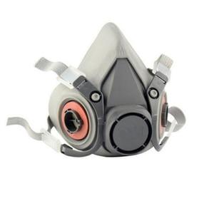 Image 2 - 2 ב 1 פונקציה תעשיית מערכת Fed הנשמה אוויר המסופק עם 6200 חצי פנים מסכת גז מעבדה Chemcial