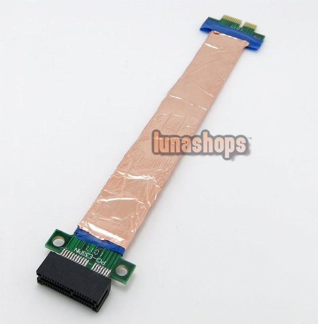 Shield Flex Ribbon Express PCI E 1x Male to Female Riser card 1U 2U Extender font