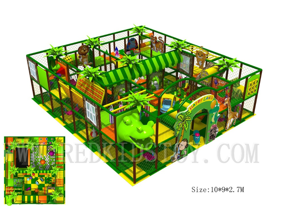 EU Standard Shipped to Lithuania Jungle Themed Indoor Play Zone With Dinosaur Head HZ 170412B|Playground|Sports & Entertainment - title=