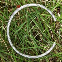 Authentic 925 Sterling Silver Bangle Fit European Brand DIY Beads Bracelet Jewelry Not include Charms