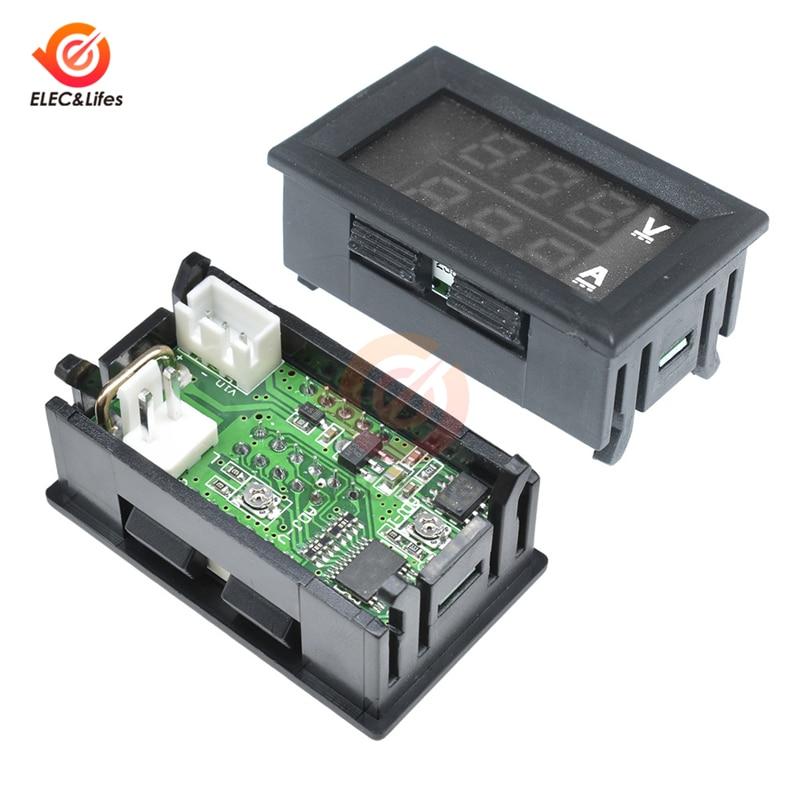 HTB1VvCzbMKG3KVjSZFLq6yMvXXaj DC 0-100V 10A 50A 100A Electronic Digital Voltmeter Ammeter 0.56'' LED Display Voltage Regulator Volt AMP Current Meter Tester