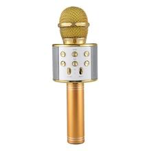 Беспроводной караоке микрофон Портативный Bluetooth мини домашний KTV для воспроизведения музыки и пения динамик плеер селфи телефон ПК