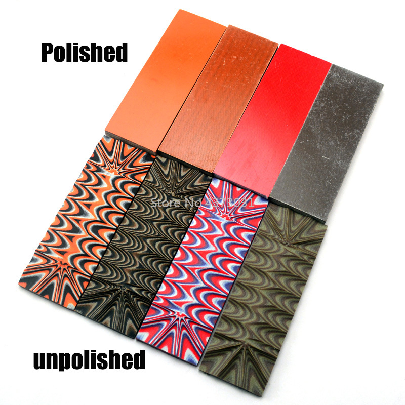 1Piece G10 Glassfibre Template Knife DIY Making Handle Material Black/Tan/OD Green Orange G10 Great Camo Look Knife