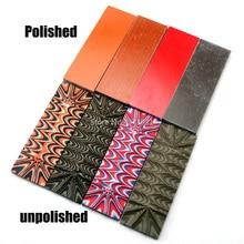 Knife DIY Template Making-Handle-Material G10 Green-Orange Great Glassfibre Camo-Look