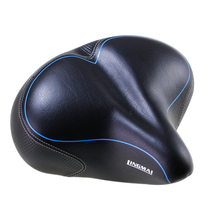 LINGMAI Bicycle Saddle with Tail Light Widen MTB Cushion Road Bike Soft Comfortable Seat Spare Parts for Bicycles almofada selle