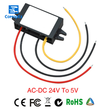 Solar Inverter Converter Step-down Ac7-35v/dc7-52v To Dc5v 1a Waterproof Control Car Module Auto For Protection Size 46*32*18mm