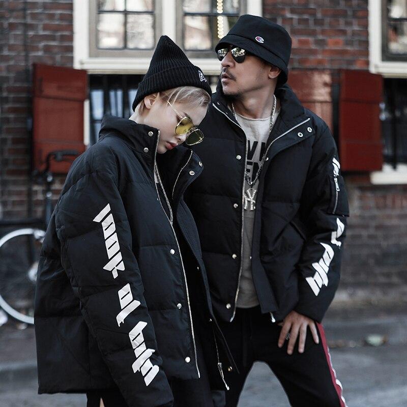 new 2018 winter women's duck   down     coat   lover couple's warm parka jacket letter printed black plus oversize 5xl 6xl 7xl 8xl 9xl
