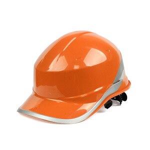 Image 2 - Sicherheit Helm Arbeit Kappe ABS Isolierung Material Mit Reflektierende Streifen Hard Hut Baustelle Isolierende Schutzhelme