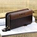Baellerry Крокодил шаблон дизайнер Длинный Деловой Человек бумажник двойной молнии мужские кожаные сумки сцепления мужской кошелек телефон сумка