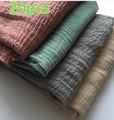 J4 20pcs 1lot   plain crinkle viscose hijab shawl scarf 180*90cm can choose colors