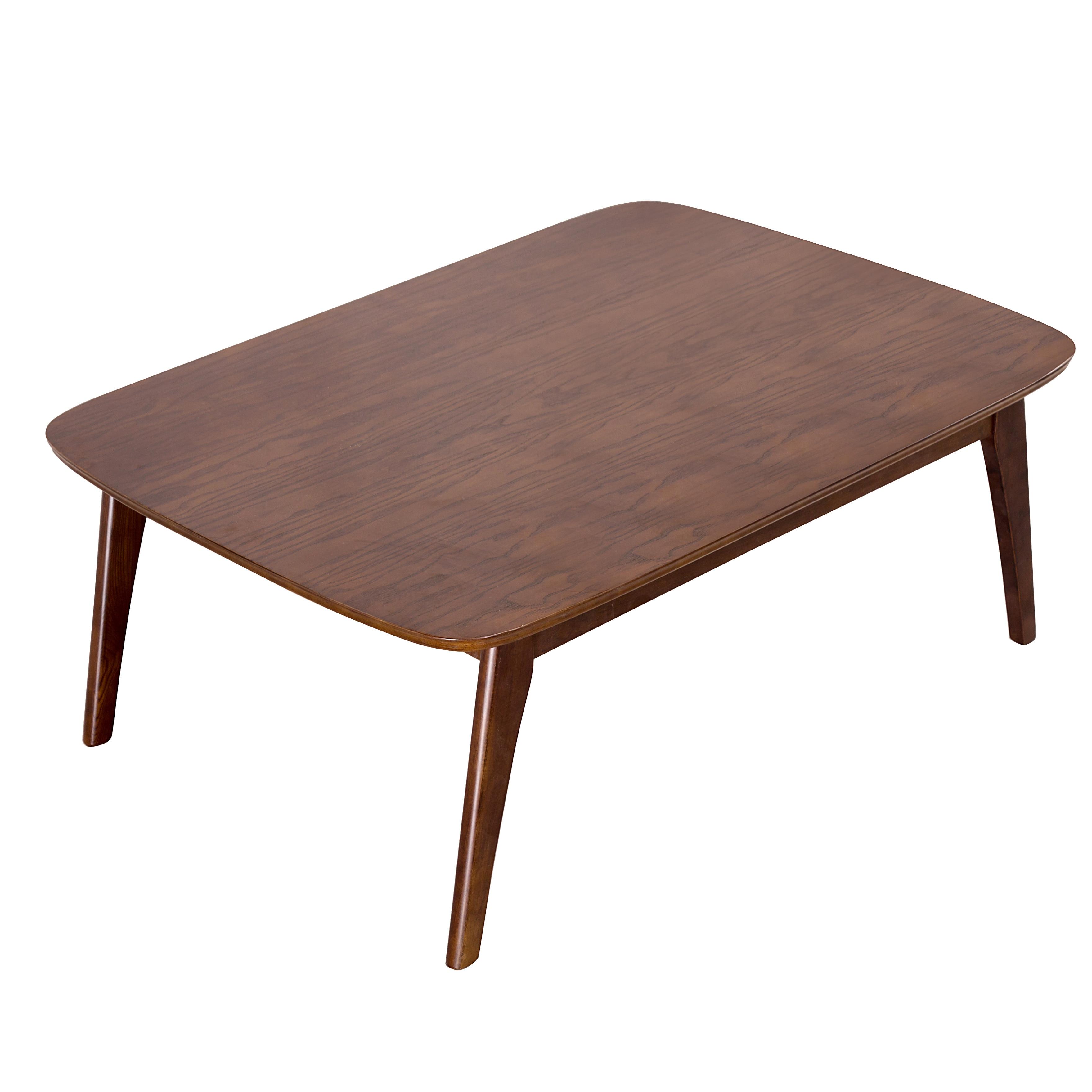 Ensemble de Table Kotatsu en bois Style japonais meubles de salon Table basse finition noyer foncé Table centrale asiatique en bois de frêne massif