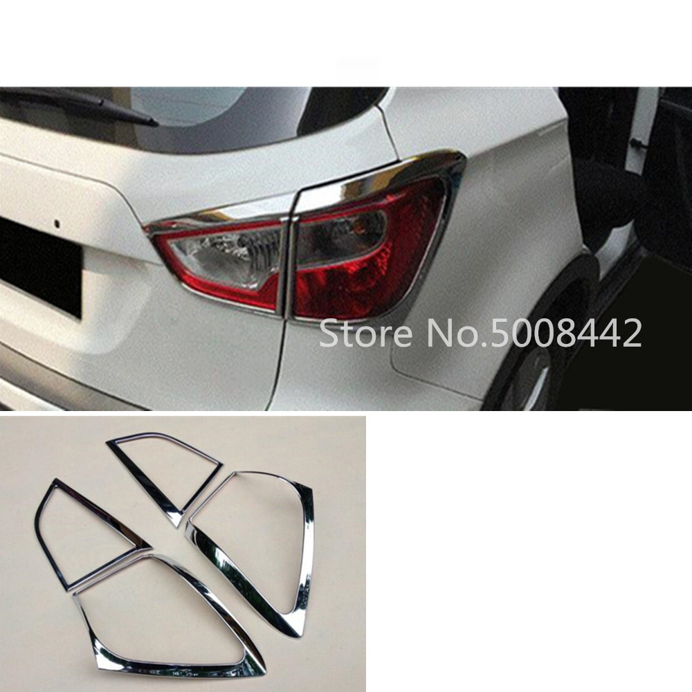 For <font><b>Suzuki</b></font> S-cross scross <font><b>SX4</b></font> <font><b>2014</b></font> 2015 2016 2017 car styling detector ABS chrome trim back tail rear light lamp frame parts image